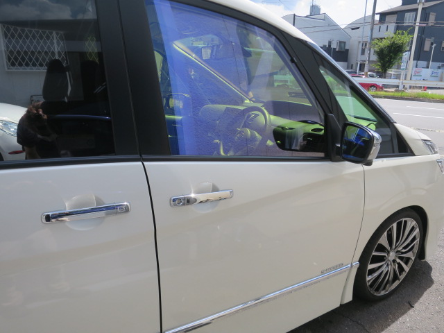 ゴースト フィルム施工 遮熱フィルム カーフィルム 反射フィルム シャインゴースト 東大阪 カービューティ・マジック